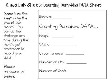 Counting Pumpkins ~ Monthly School-wide Science Challenge ~ STEM