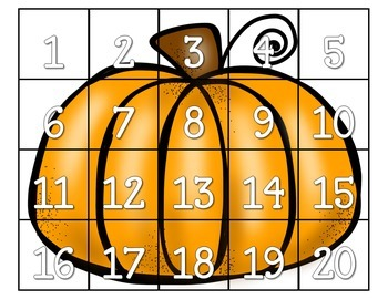 Counting Pumpkins Puzzle Game