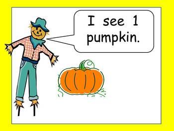 Counting Pumpkins Shared Reading - Kindergarten or Preschool- Fall