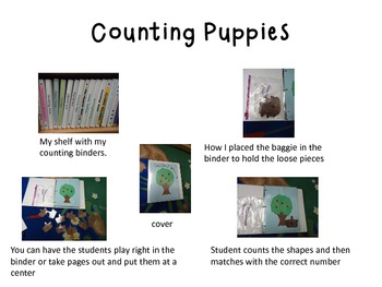 Interactive Counting Puppies Notebook