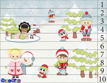 Counting Puzzle 1-10 Winter Activity