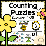 Counting Puzzles 0-20 - Spring themed