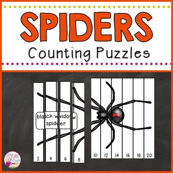 Counting Puzzles 1-30 (Spider Themed)