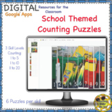 Counting Puzzles Back to School Digital Google Distance Learning