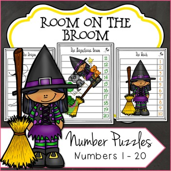 Counting Puzzles, Room on the Broom Inspired Halloween Printables