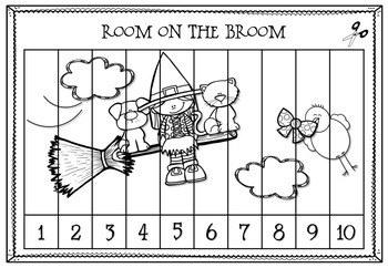 image regarding Halloween Printable Puzzles called Counting Puzzles, Area upon the Broom Influenced Halloween Printables