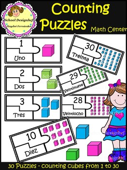 Counting Puzzles - Numbers 1-30 / Counting cubes(School Designhcf)