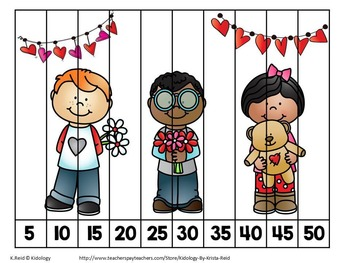 Counting Puzzles - Valentine Day Theme