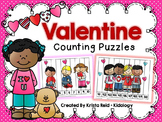 Valentine Math Actvities - Counting Puzzles