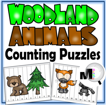 Number Puzzles - Counting and Skip Counting by 2s, 5s, and 10s - Free