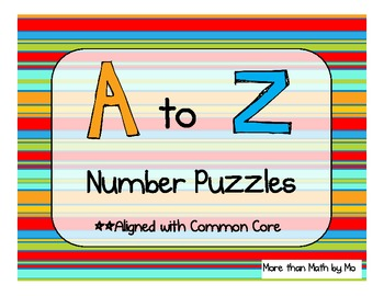 Counting Puzzles for each letter of the Alphabet