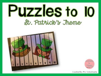 Counting Puzzles to 10 St. Patrick's Theme