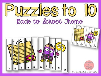 Counting Puzzles to 10 Theme Bundle