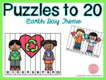 Counting Puzzles to 20 Earth Day Theme