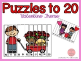 Counting Puzzles to 20 Valentine Theme