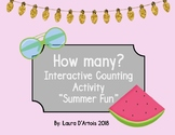 Counting Quantities 1-10: Summer Fun Adapted Activity Book