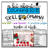 Counting Quantities to 15: Skill Cement