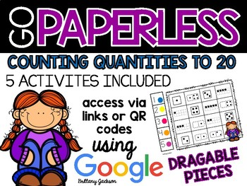 Counting Quantities to 20 Activities using Google Slides