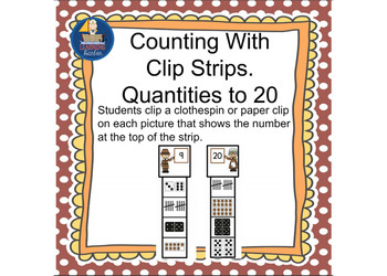 Counting Quantities to 20 Pilgrim Theme