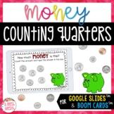 Counting Quarters Digital Task Cards   Boom and Google Sli