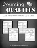 Counting Quarters  up to $2.00  Cut and Paste Coins