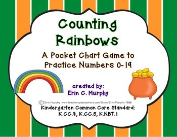 Counting Rainbows - A Pocket Chart Game to Practice Identifying the Numbers 0-19