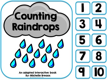 Counting Raindrops- An Adapted Counting Book for Spring {Autism}