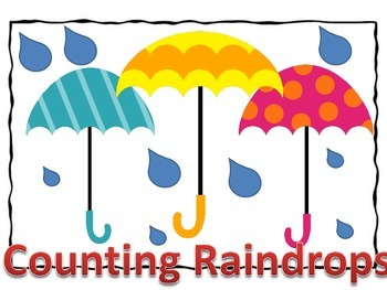 Counting Raindrops -Counting and Writing Math Practice