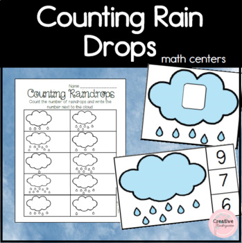 Counting Raindrops! Numbers 1 to 20 Activity Pack for Kindergarten