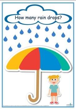 Counting Raindrops Printable Maths Games and Activities (Standard Print)