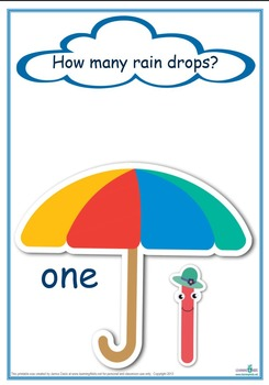 Counting Raindrops Printable Maths Games and Activities (S