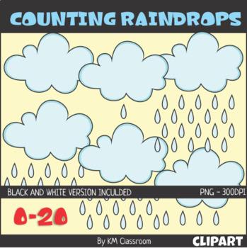 Counting Raindrops Zero to Twenty ClipArt