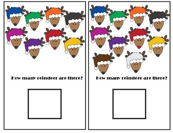 Counting Reindeer Adapted Book