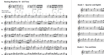 "Flute - Counting Rhythms in Band ""Resting Rhythms Method Book"""