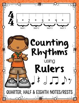 Counting Rhythms using Rulers: Quarter, Half, & Eighth Not