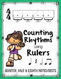 Counting Rhythms using Rulers: Quarter, Half and Eighth Notes