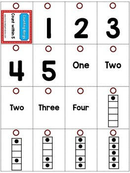 Counting Rings - K.CC.1 - FREEBIE - Counting to 5, 10, and 20