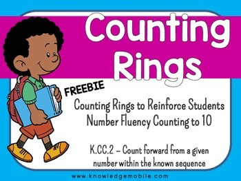 Counting Rings - K.CC.2 - Counting Up to Ten - FREEBIE - K