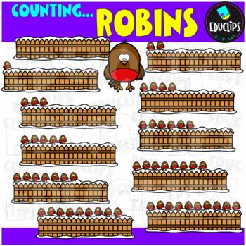 Counting Robins Clip Art Bundle  {Educlips Clipart}