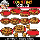 Counting Rolls Clipart {Thanksgiving Clipart}