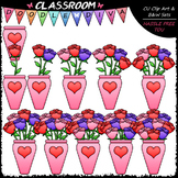 (0-10) Counting Roses - Sequence, Counting & Math Clip Art