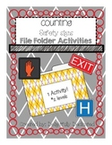 Counting Safety Signs File Folder Activity-Special Education or Early Elementary