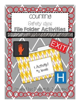 Counting Safety Signs File Folder Activity-Special Educati