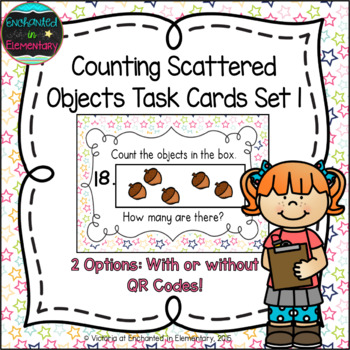 Counting Scattered Objects Task Cards Set 1: Kinder CC: Co