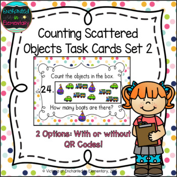Counting Scattered Objects Task Cards Set 2: Kinder CC: Co