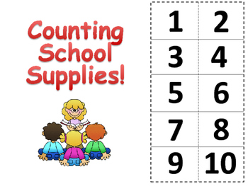 Counting School Supplies- Adapted book