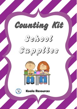 School Supplies Counting Kit Back to School