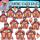 Counting Schoolhouse Leaves: Back-to-School Clipart {DobiB