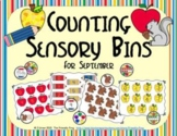 Counting Sensory Bins for September