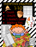 Counting Sets 1-10 - Graph and Analyze Data, 1 More/ 1 Less, Make a Ten